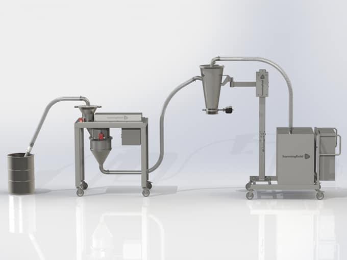 In-Line Vacuum Milling